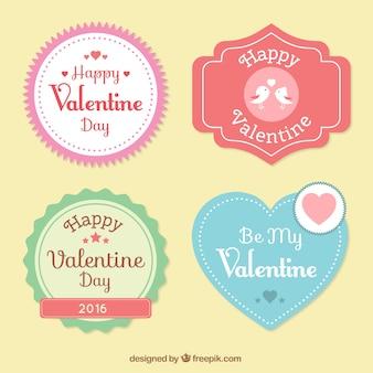 귀여운 해피 발렌타인 데이 라벨