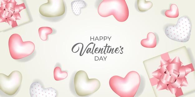 Cute happy valentines day background illustration design