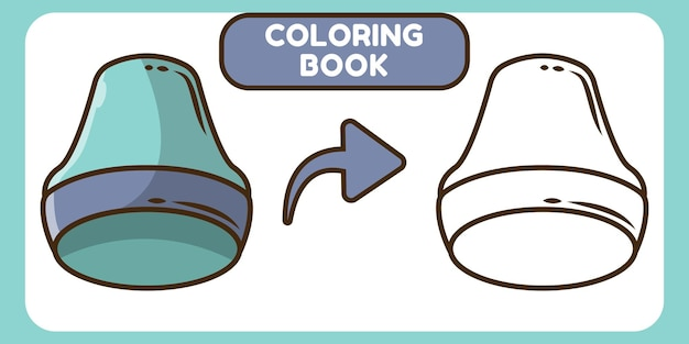 Cute hat hand drawn cartoon doodle coloring book for kids