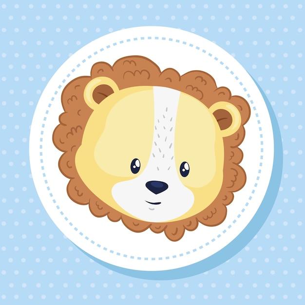 Cute head of lion