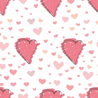 Cute heart pattern background.