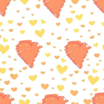 Cute heart pattern background.