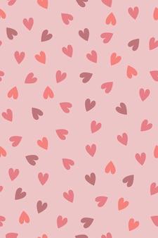 Симпатичное сердце бесшовные модели в пастельных тонах. векторная графика.