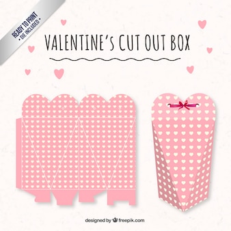 Cute heart valentines day box