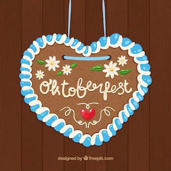 Cute heart with flowers to celebrate oktoberfest