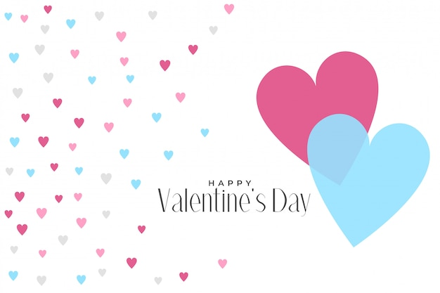 Cute hearts pattern valentines day background