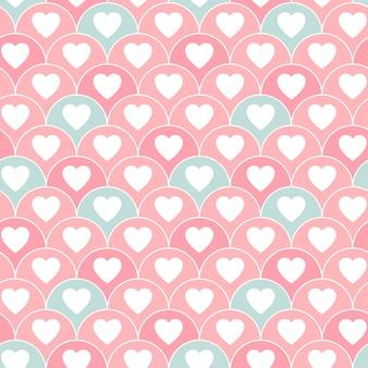 Cute hearts seamless pattern