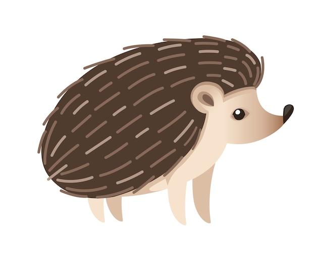 Милый ежик млекопитающие подсемейство erinaceinae лесной житель мультяшный дизайн животных