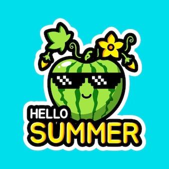 귀여운 안녕하세요 여름 디자인