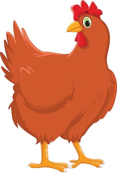 Милый мультфильм курица
