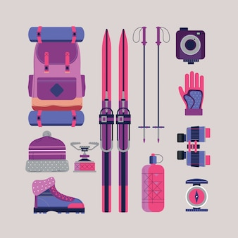 Cute hiking and camping equipment