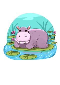 Cute_hippo_illustration
