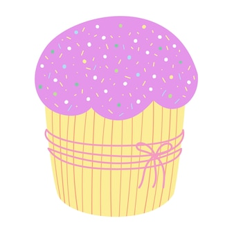 Cute holiday cupcake vector illustration