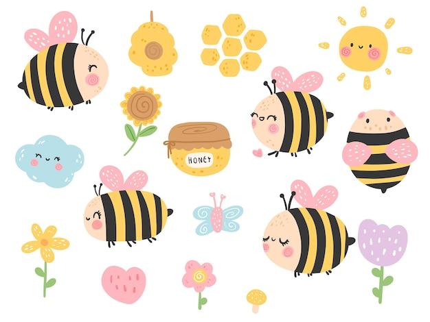 Cute honey be, spring season.