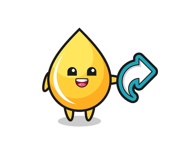 Cute honey drop hold social media share symbol , cute style design for t shirt, sticker, logo element