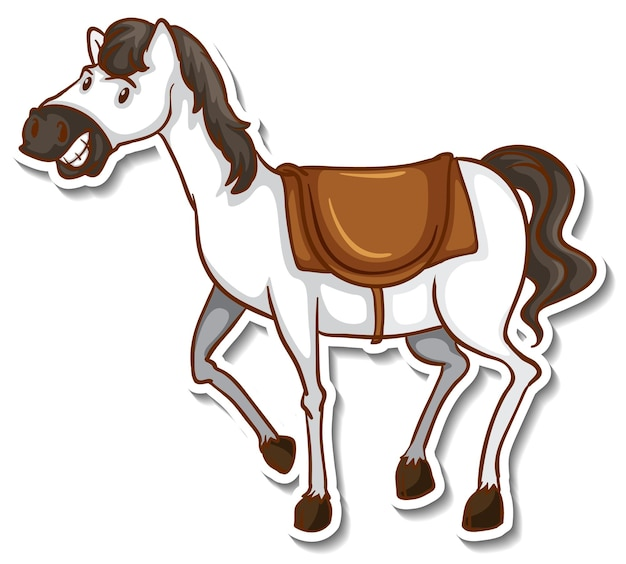 A cute horse cartoon animal sticker