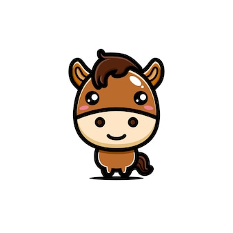 かわいい馬のキャラクターデザイン