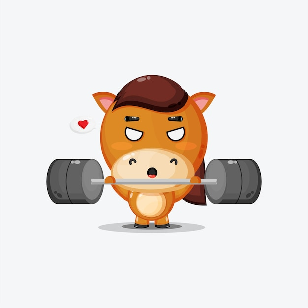 Cute horse gym fitness