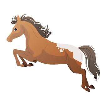 かわいい馬のジャンプ