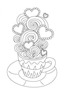 かわいいホットコーヒー