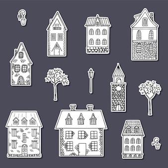 Коллекция наклеек милый дом