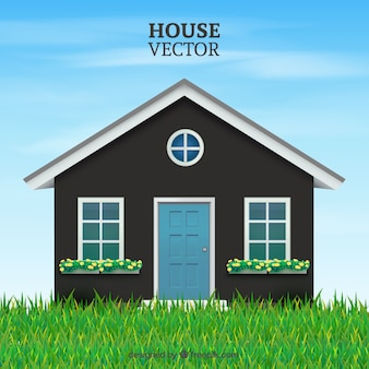 Cute house Free Vector