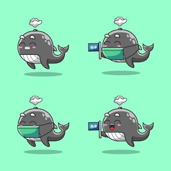 世界の海の日を祝う海のかわいいザトウクジラ