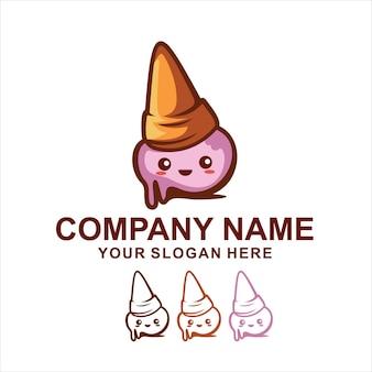 Милый логотип мороженого