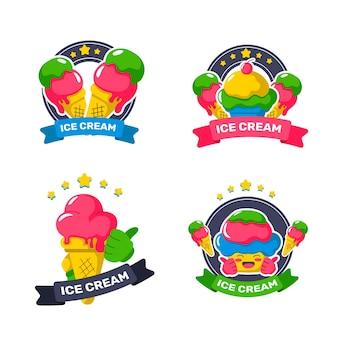 Cute ice cream stickers