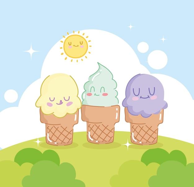 귀여운 아이스크림 콘