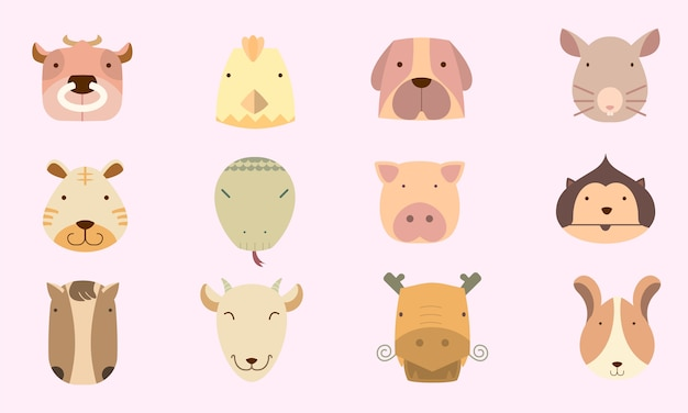 Cute icon chinese astrology