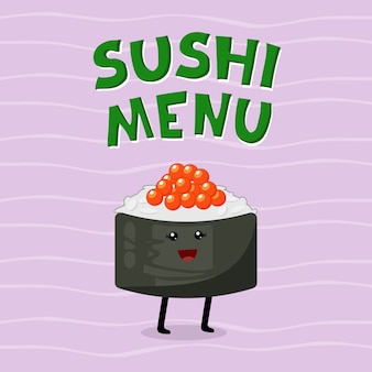 Cute illustration of asian cuisine.