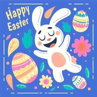 Cute illustration of easter day bunny
