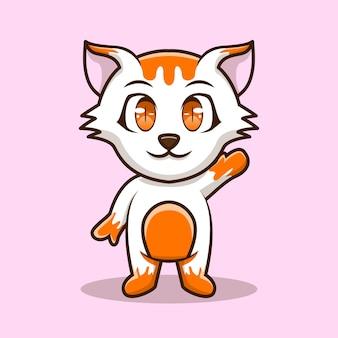 かわいいイラストハロー猫characrアイコン