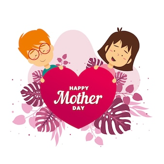 Cute illustration of mother's day event