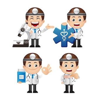 医者のキャラクターのかわいいイラスト