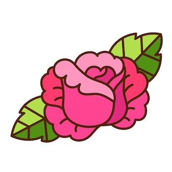 花のかわいいイラスト。