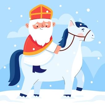 Cute illustration of saint nicholas day
