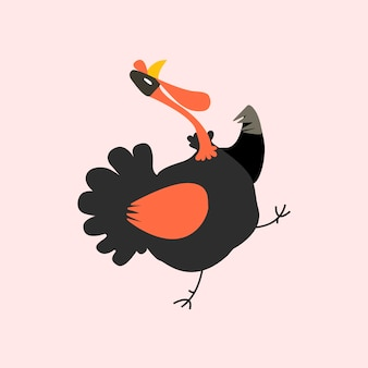 Cute illustration of a turkey