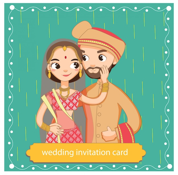 Cute indian couple in traditional dress
