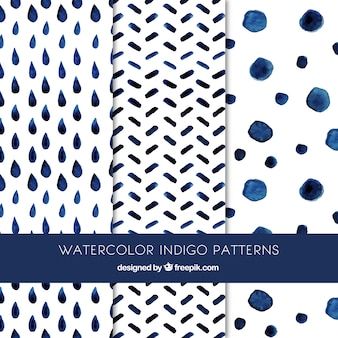 Cute indigo patterns