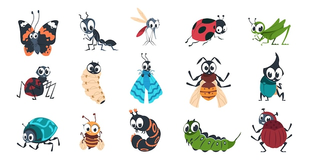 Cute insects illustration