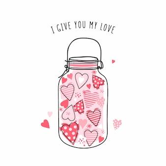 心のかわいい瓶