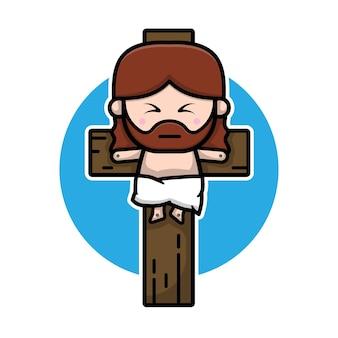 Cute jesus christ cartoon character