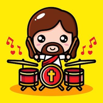 Cute jesus christ cartoon design