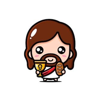 Милый иисус христос делится хлебом
