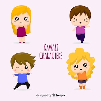 Cute kawaii characters