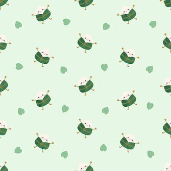 かわいいかわいいちまき団子シームレスパターン