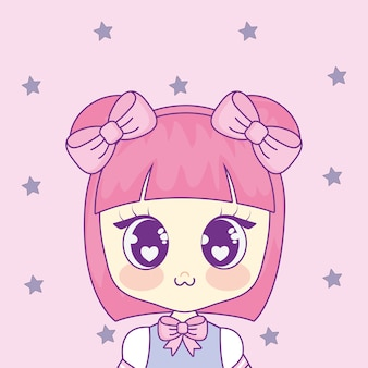 Cute kawaii girl character