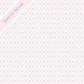 かわいいカワイイハートシームレスパターン